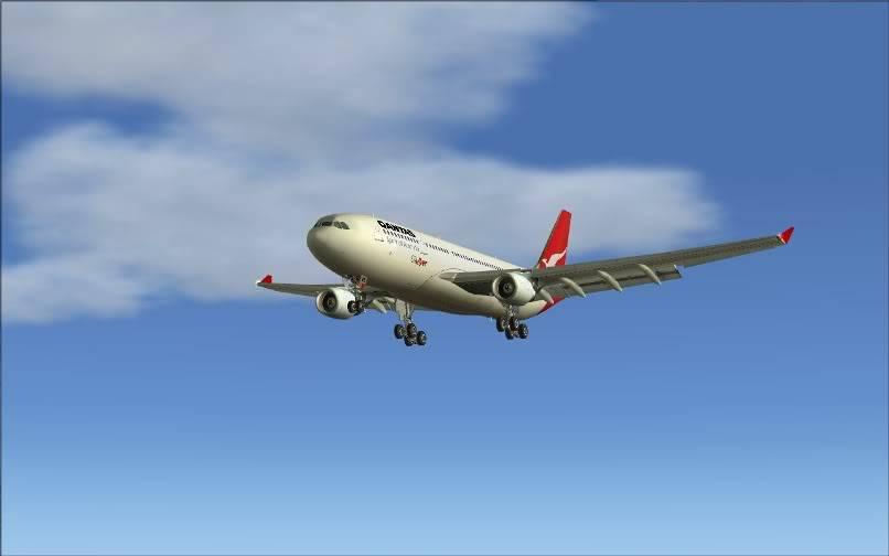 [FS9] SBGR - SUMU / A330 Qantas FS2004-027