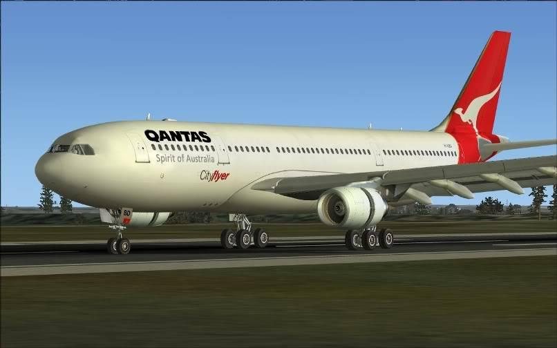 [FS9] SBGR - SUMU / A330 Qantas FS2004-029