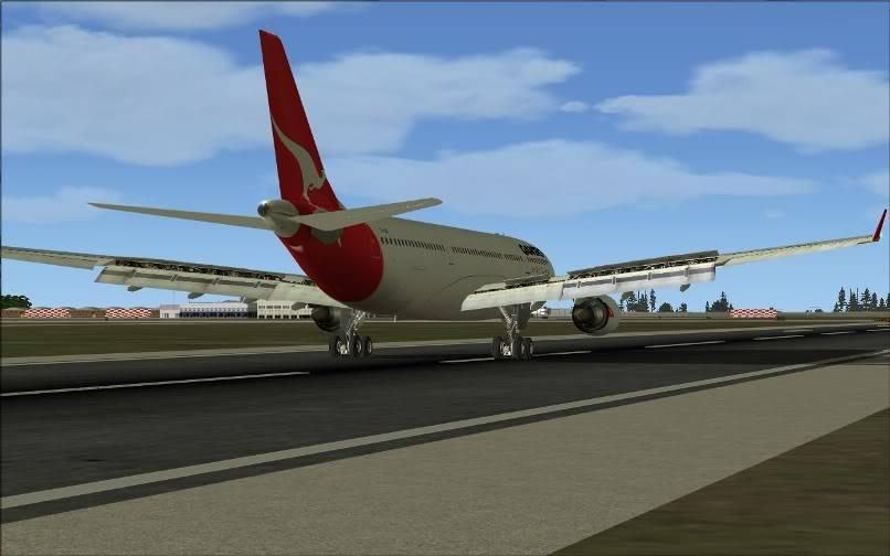 [FS9] SBGR - SUMU / A330 Qantas FS2004-030