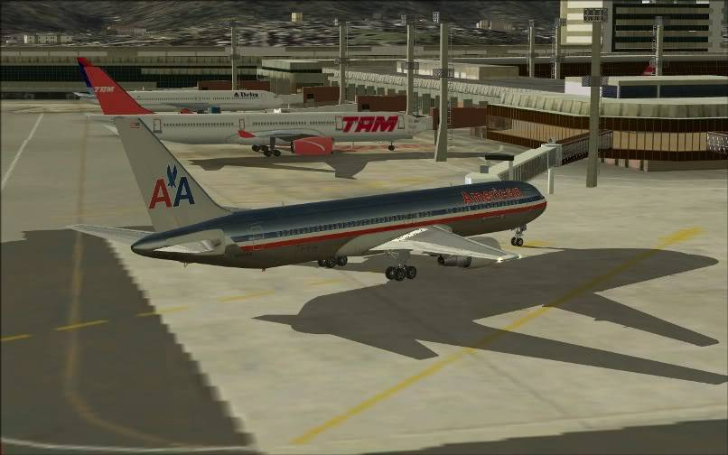 [FS9] KJFK - SBGR / B763 American Airlines Leveld FS2004-026