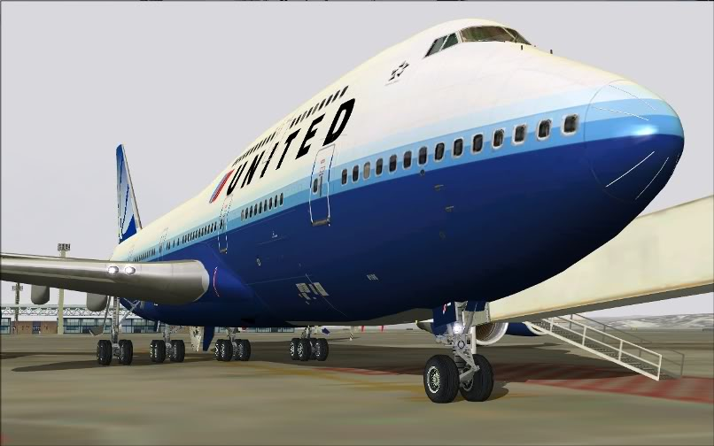 [FS9] SBGR - KJFK / B744 United PMDG FS2004-001
