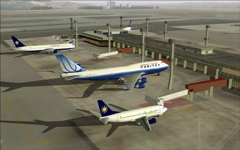 [FS9] SBGR - KJFK / B744 United PMDG FS2004-002