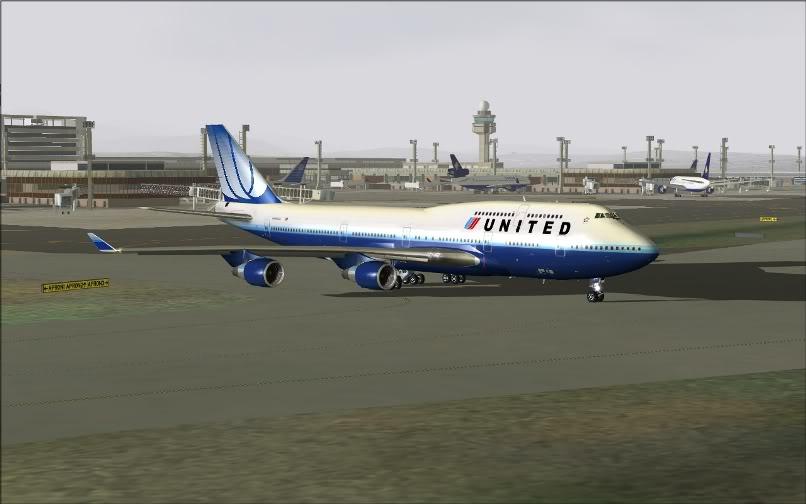 [FS9] SBGR - KJFK / B744 United PMDG FS2004-005