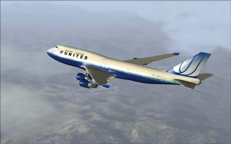 [FS9] SBGR - KJFK / B744 United PMDG FS2004-011
