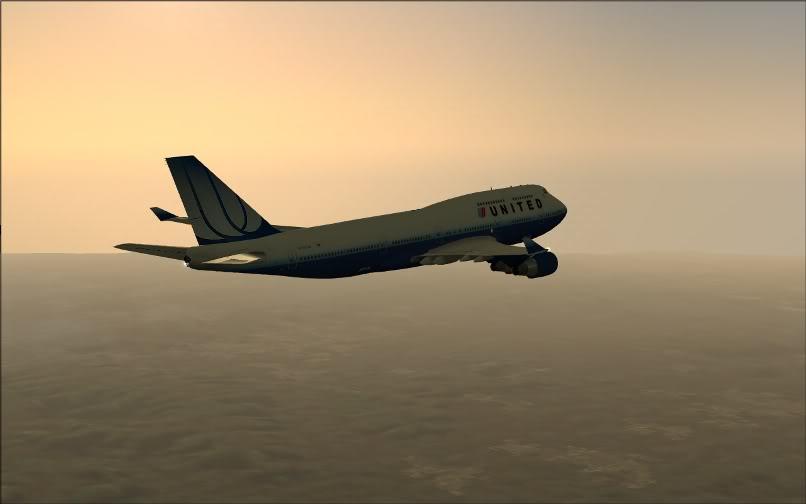 [FS9] SBGR - KJFK / B744 United PMDG FS2004-012