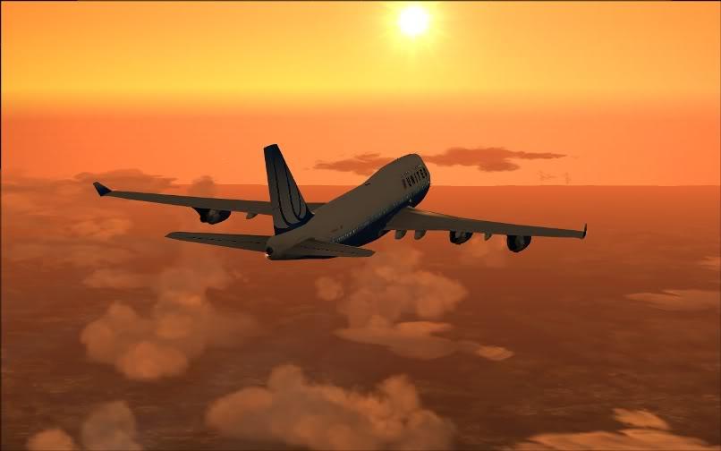 [FS9] SBGR - KJFK / B744 United PMDG FS2004-018