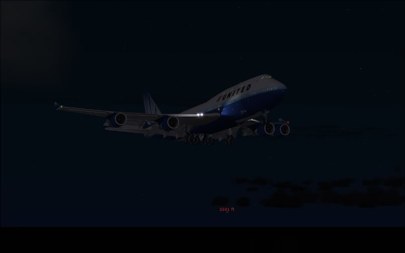 [FS9] SBGR - KJFK / B744 United PMDG FS2004-029