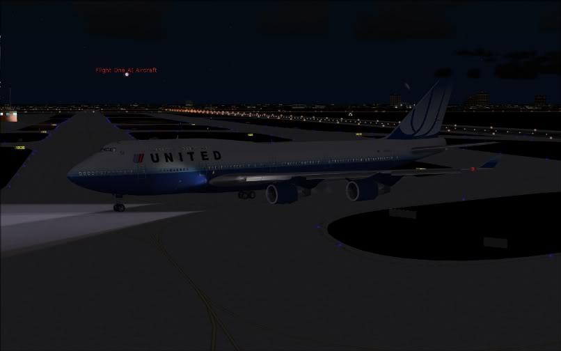 [FS9] SBGR - KJFK / B744 United PMDG FS2004-034