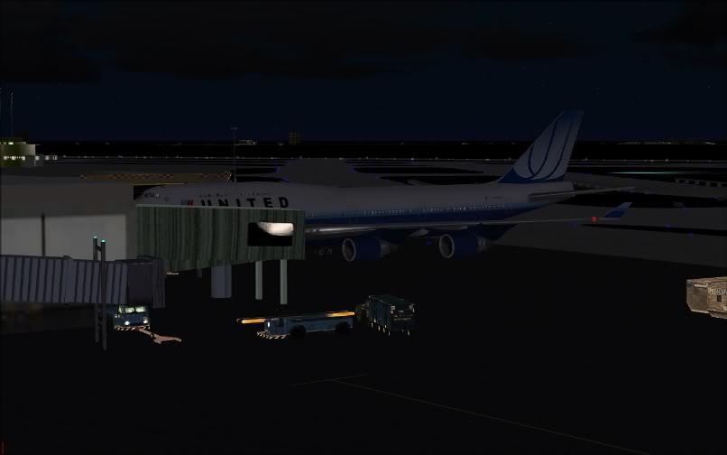 [FS9] SBGR - KJFK / B744 United PMDG FS2004-036-1