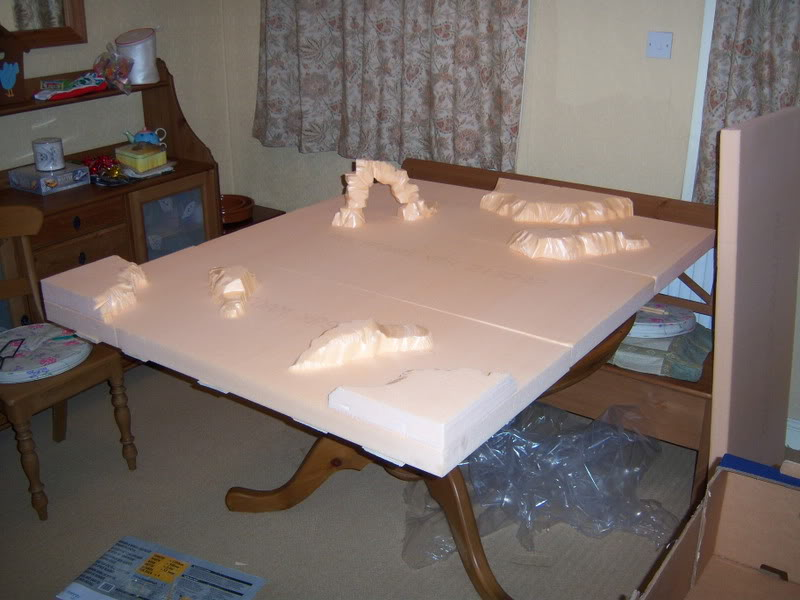 Wargame table - Pink B&Q style 100_2065