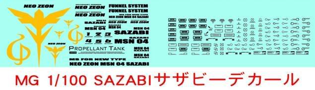 DC-0027 MG 1/100 SAZABI DC-0027