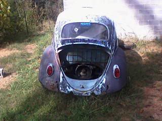 1963 Gulf Blue bug - Blue Bug III Rearview