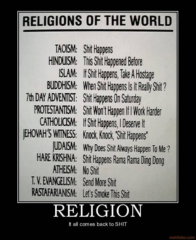 Flame a Religion Religion-shit-demotivational-poster