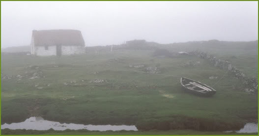 Irish cottage in the faery-haunted mist near the sea... Irishcottage