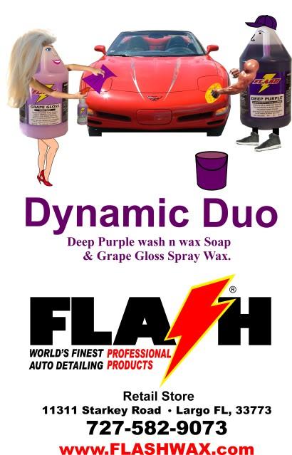 Deep Purple Wash & Wax Shampoo & Grape Gloss Spray Wax-Dynamic Duo Dynamic_Duo_shirt2