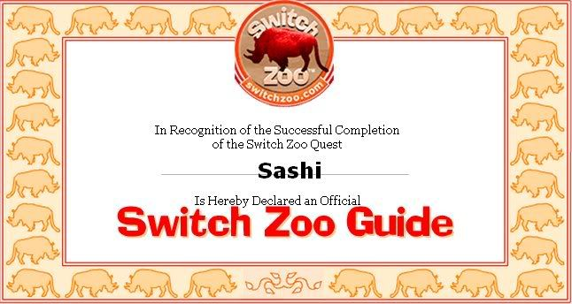 Zoo Quest Switchzooguidecertificate