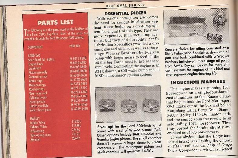 "Hot Rod Mag 1,000+ hp 600"" single carb Kaase bulit 1994  600-3"