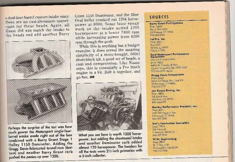 "Hot Rod Mag 1,000+ hp 600"" single carb Kaase bulit 1994  600-4"
