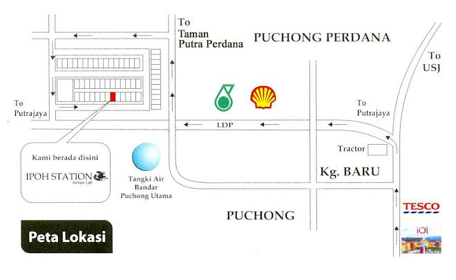 TT Ipoh Station Antique Cafe, Puchong**#MArI BeRNosTaLgiA#**23/03/2012 IpohStation-map
