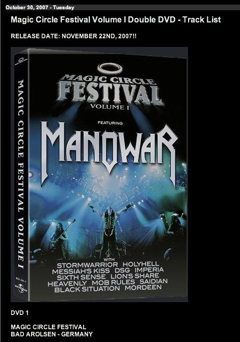 MANOWAR - Page 2 MCFDVD