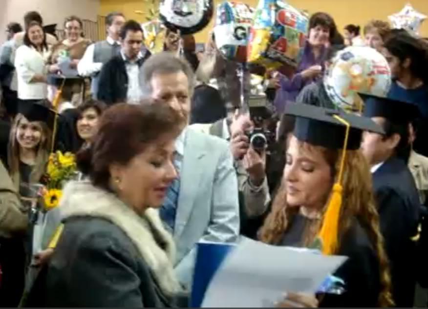 Graduacion de Jolette Diploma