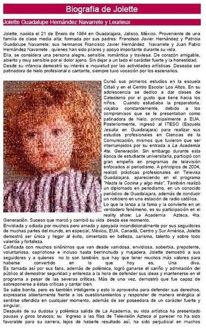 Jolette® : Su Biografìa Bio1
