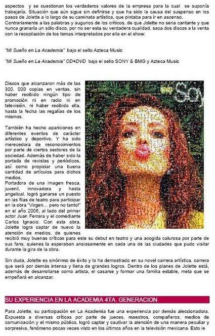 Jolette® : Su Biografìa Bio2