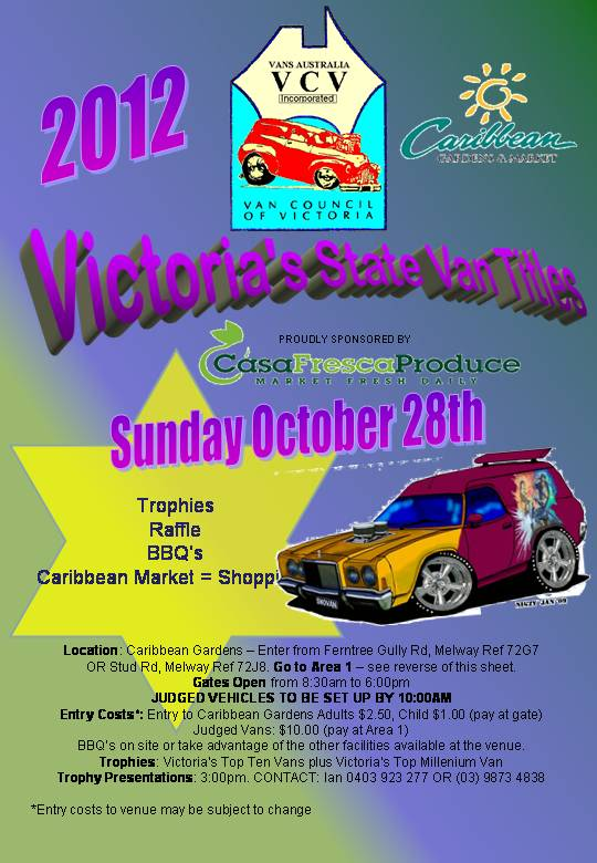 Victorian State Van Titles, 28th October 2012 VicStateTitles2012000