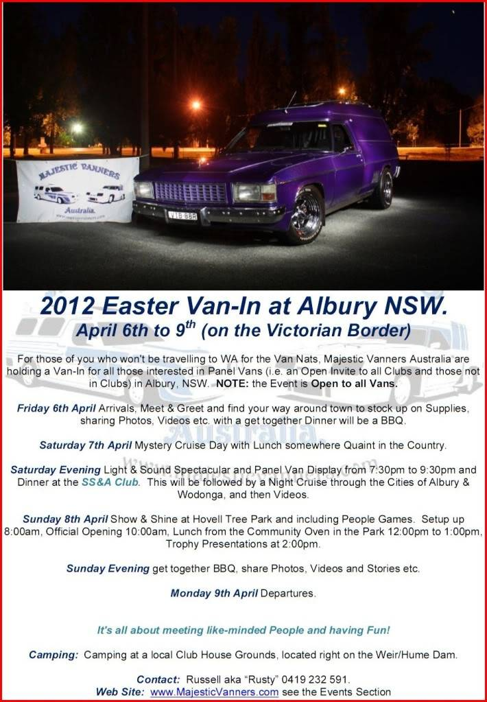 Albury/Wodonga Van-In Easter 2012 2012EasterVan-InFlyer