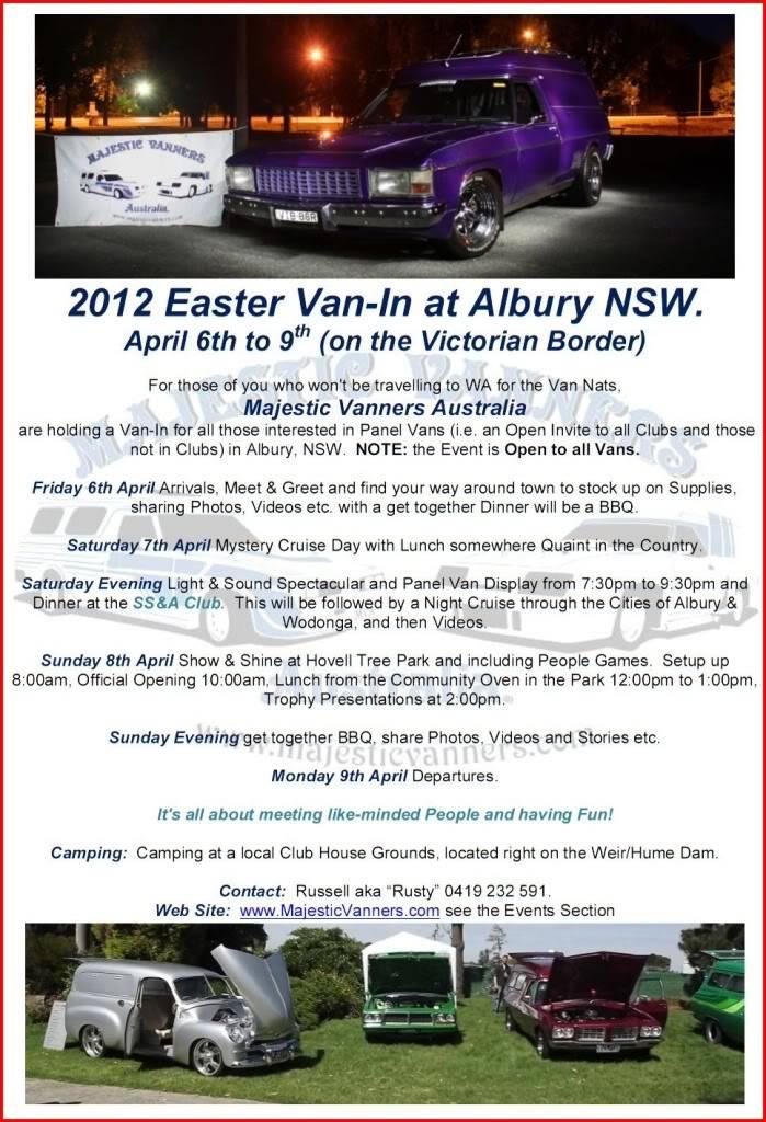 Albury/Wodonga Van-In Easter 2012 2012EasterVan-InFlyer5