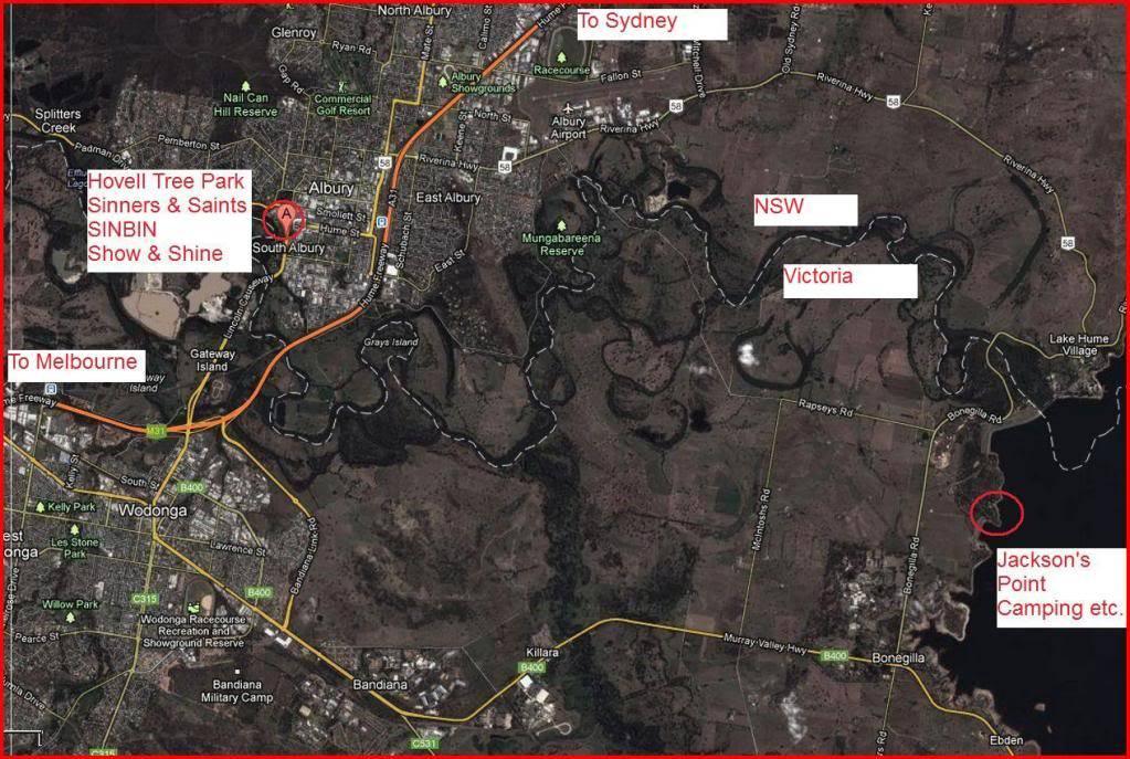 Maps to 2013 Van-In AlburyWodongaLakeHume