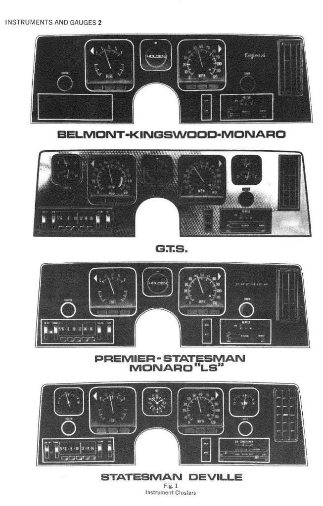Hq Holden Wiring Diagram : Hq holden dash options