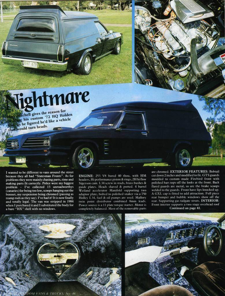 How Many Different TransAm Fronts were there on Aussie Vans/Cars? Nightmare1