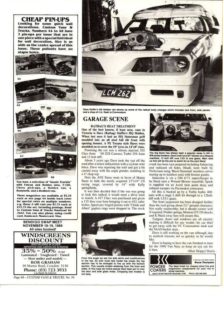 How Many Different TransAm Fronts were there on Aussie Vans/Cars? RatbagsVanCVT56