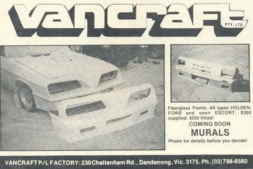 How Many Different TransAm Fronts were there on Aussie Vans/Cars? VanCraftscan