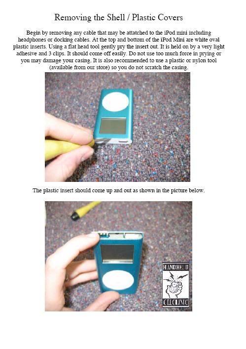 COMPLETE GUIDE and DISMANTLE of iPOD Mini Mini1