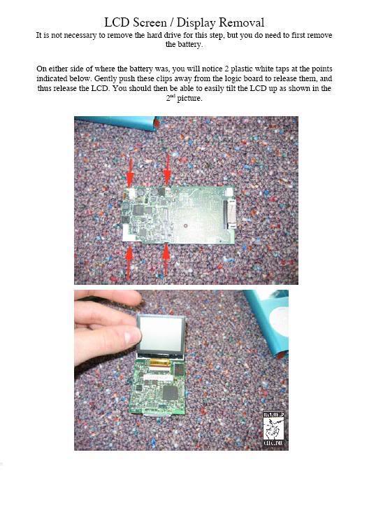 COMPLETE GUIDE and DISMANTLE of iPOD Mini Mini8