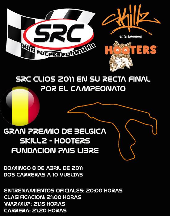 Confirmar Asistencia GP de Belgica PortadaBelgica