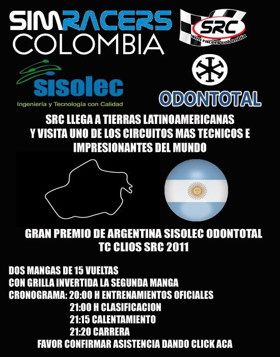 Confirmar Asistencia GP Argentina Portadapotrero