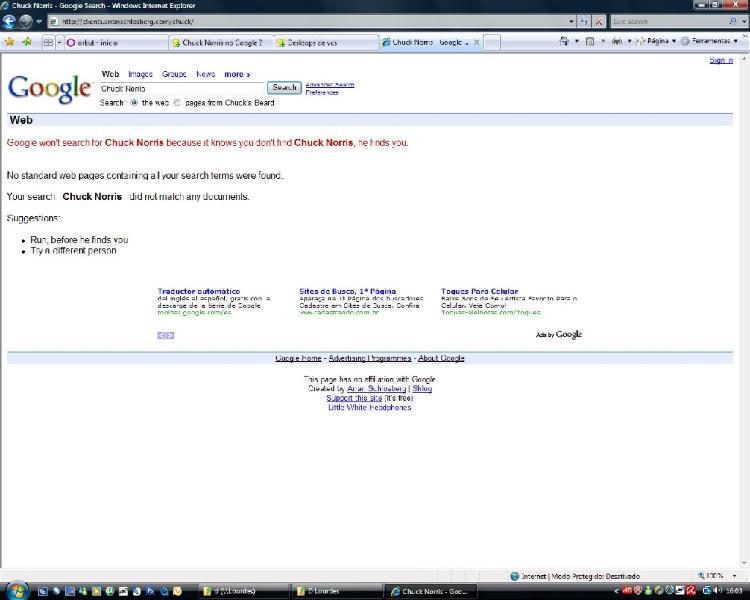 Chuck Norris no Google ? Chuck