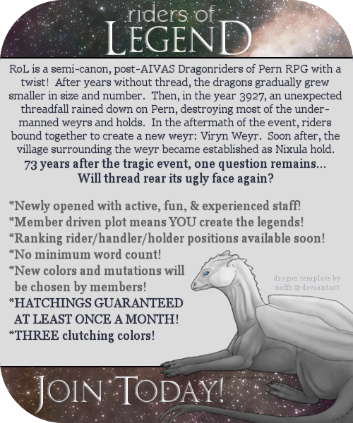 Riders of Legend: Semi-Canon Dragonriders of Pern RPG RoLAd2