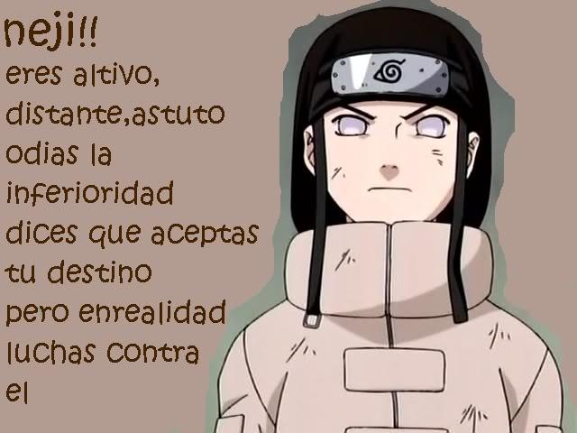 Test: Qué personaje de Naruto eres?? Neji