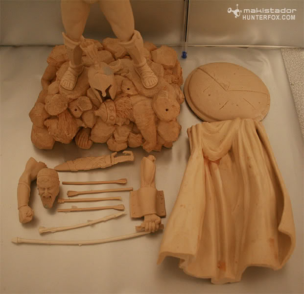 TERMINE - Statue kit resine Leonidas film 300 - SPARTIATES ! 3-32