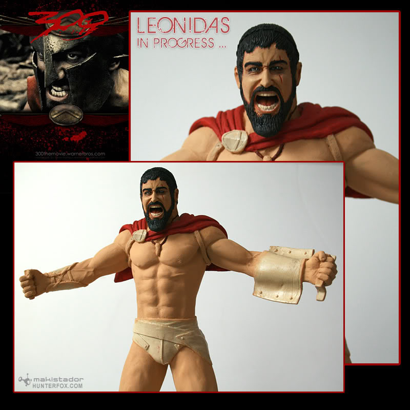 TERMINE - Statue kit resine Leonidas film 300 - SPARTIATES ! 3-34