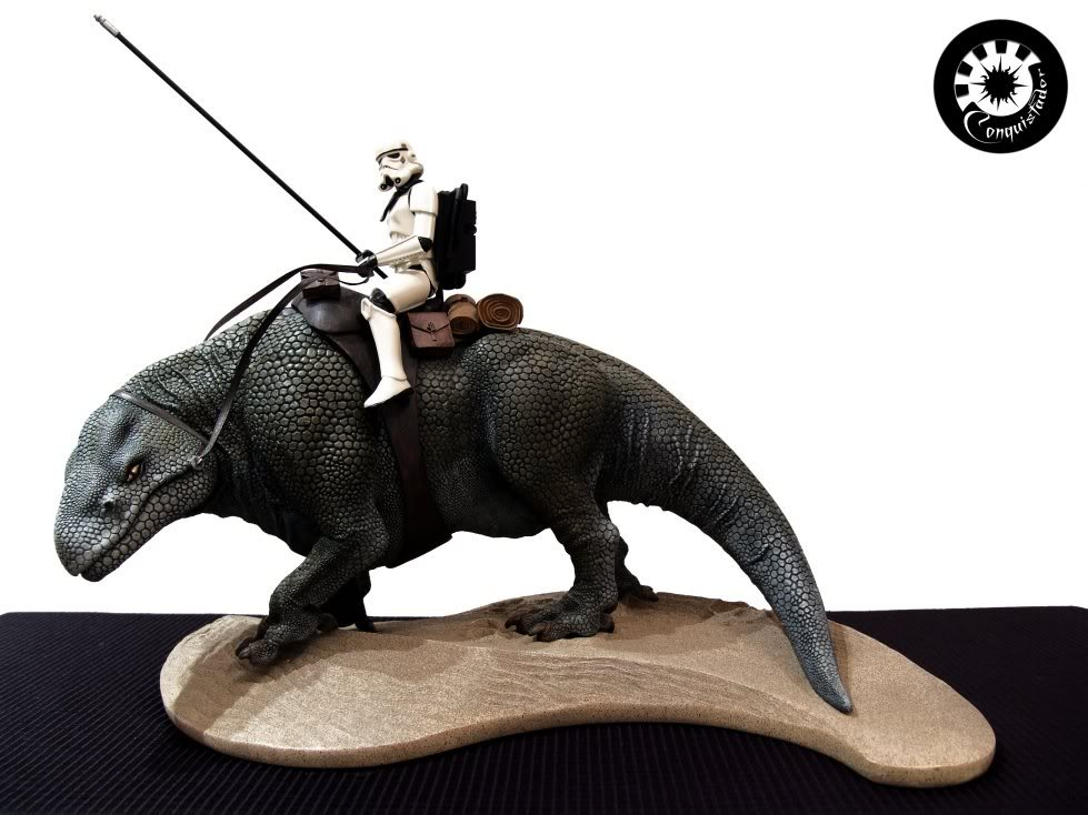 Sandtrooper and Dewback Diorama DSC03623