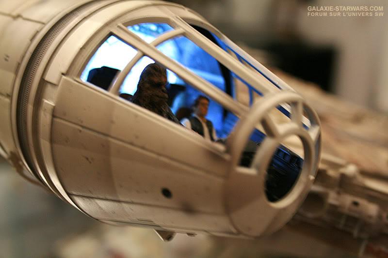 Les figurines Han solo et Chewie pour faucon MR MR3-1
