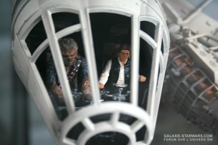 Les figurines Han solo et Chewie pour faucon MR MR6-1