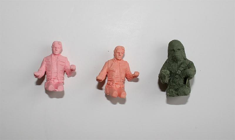 Les figurines Han solo et Chewie pour faucon MR Han