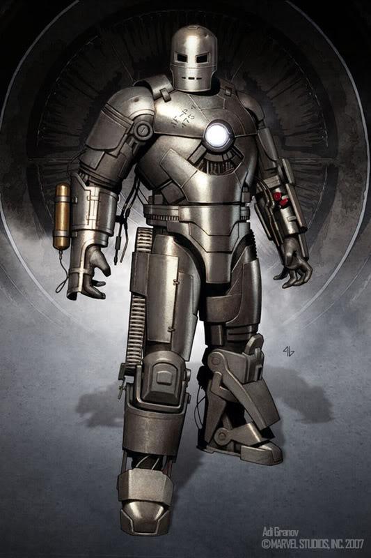 Concept Art Iron Man par Adi Granov Iron16