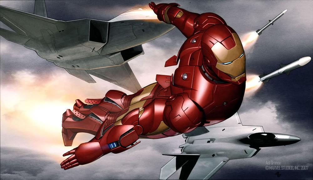 Concept Art Iron Man par Adi Granov Iron18